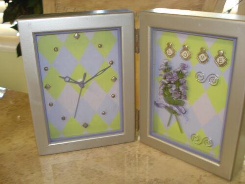 Photo Frame Desk, Mantel, Shelf Clock