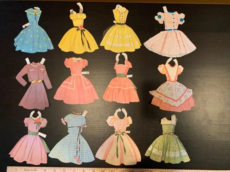 Vintage Paper Doll Clothes Mommy And Me Mom Dolly 1960s