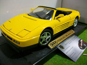 ferrari 348 spider 1992 cabriolet jaune 1 18 mira 6918 voiture miniature ebay. Black Bedroom Furniture Sets. Home Design Ideas
