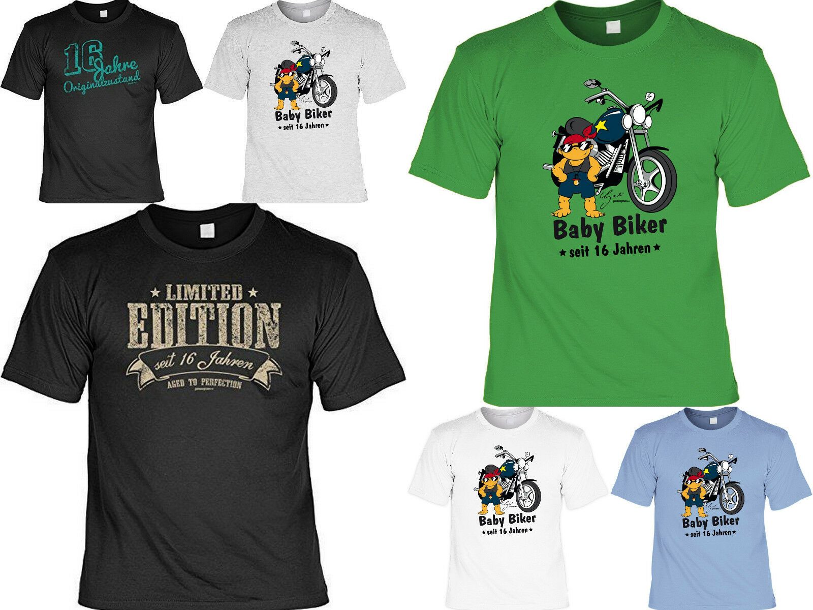 T-Shirt zum 16.Geburtstag - 16 Jahre - Coole Sprüche / Motive Geburtstag 16