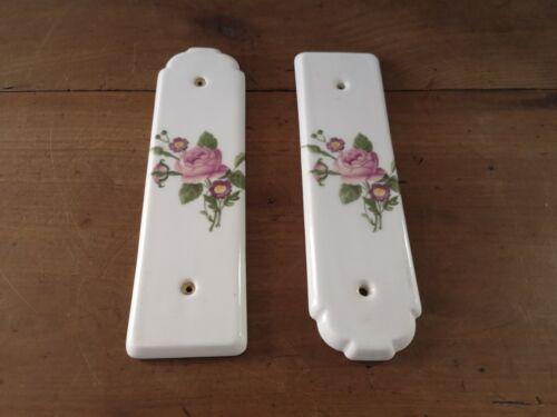 lot de deux anciennes plaques de propreté en porcelaine de paris