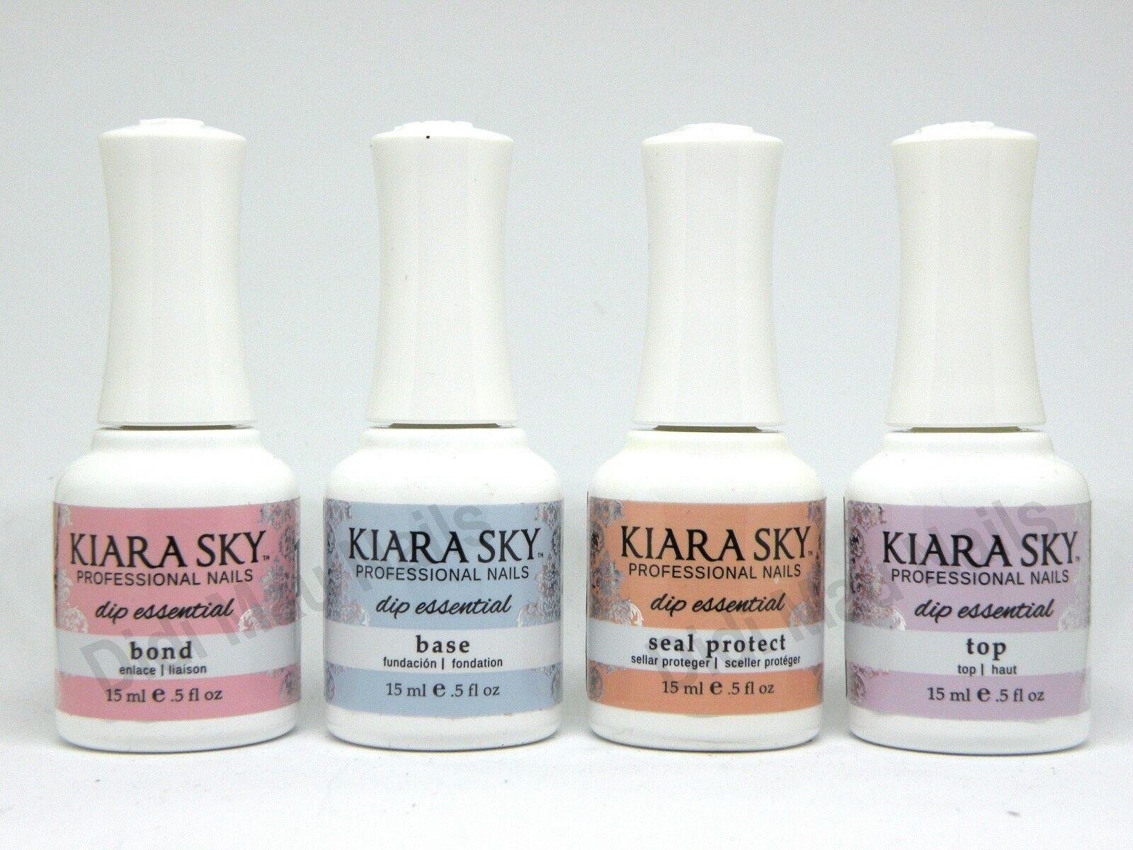 Kiara Sky Dipping Powder Essentials Kit Steps 1-4 0.5oz