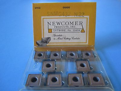 Snmg 432-n22 Pkg Of 10 Uncoated Carbide Inserts