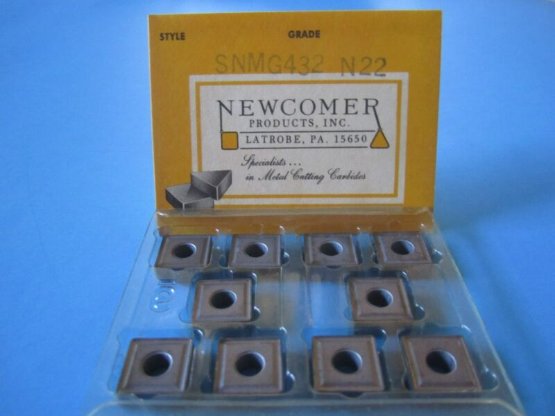 SNMG 432-N22 (pkg of 10) Uncoated Carbide Inserts