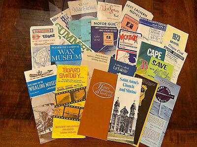 Vintage 1970's (lot of 20) Travel Brochures Massachusetts Cape Cod & More