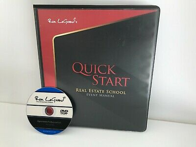 QUICK START REAL ESTATE SCHOOL EVENT MANUAL BY RON LEGRAND - INCLUDES BONUS DVD!