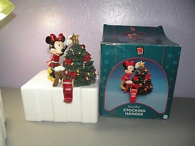 1998 Minnie Mouse Santa's Best Stocking Hanger Christmas Tree & Box