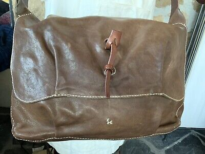 Henry Cuir  Beguelin Leather Italy Cross Body Purse Hobo Tote Shoulder Bag