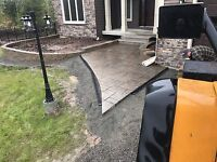 Landscaping, equipment rentals, brick work available!