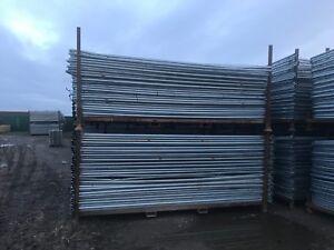 Heras style security mesh fencing sets - construction grade