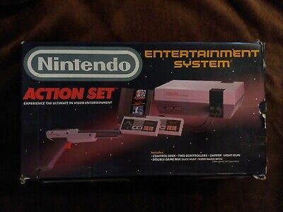 Nintendo Entertainment System (NES) Action Set- Console with original game & box