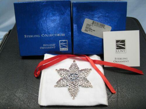 2000 LUNT Sterling Silver Snowflake CS 552 Christmas Silversmiths Sno'Flake