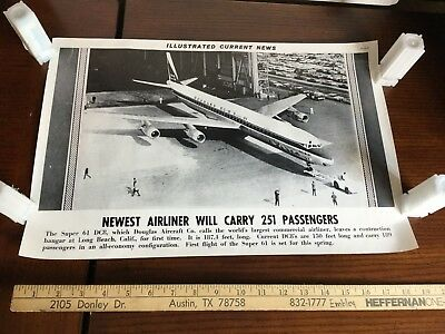 Illustrated Current News Photo - Super 61 DC8 Douglas Aircraft Airliner