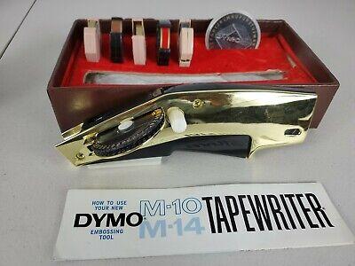 Dymo M10 Handheld Gold Color Label Maker