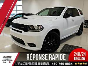 2018 Dodge Durango R/T, V8 HEMI, CUIR, TOIT, NAV 7 PASSAGER
