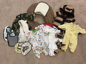 Baby NB clothes + car seat cover + 11 pairs of shoes!