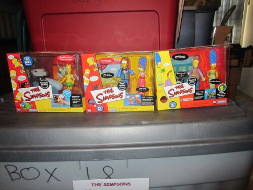 SIMPSONS PLAYMATES LOT OF 3 ENVIORNMENTS