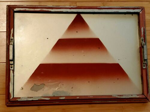 Original VINTAGE ART DECO REVERSE PAINTED SERVING TRAY cocktail bar ware Bauhaus