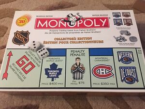 Collectors edition NHL monopoly complete   Family game night