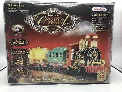 Prextex Christmas Train Set Around Christmas Tree Real Smoke Music & Lights
