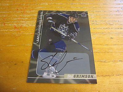 Stu Grimson Signed 2000-01 BAP Signature Series Autographs #179 Card NHL Kings