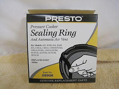 Ring Sealing - Presto 09906 9906 Pressure Cooker Sealing Ring Gasket & Auto Air Vent Genuine