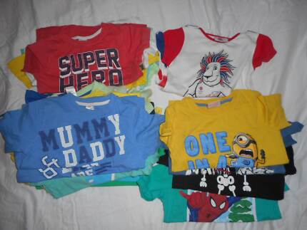 Boys Sz 3 short sleeve shirt daycare pack GUC
