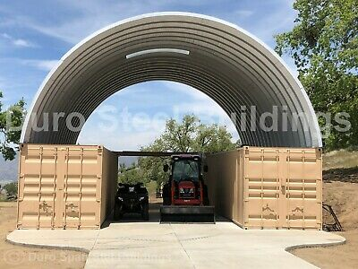 Durospan Steel 56x20x16 Metal Building Container Box Covers Open Ends Direct