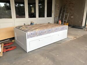 IKEA Brimnes Day-Bed with 2 Drawers - single to double conversion