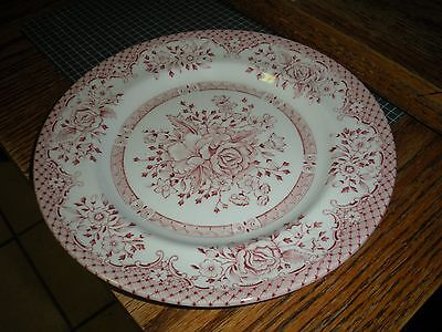 "Vintage Wood & Sons Plate (s) 8"" Red/pink  made in England"