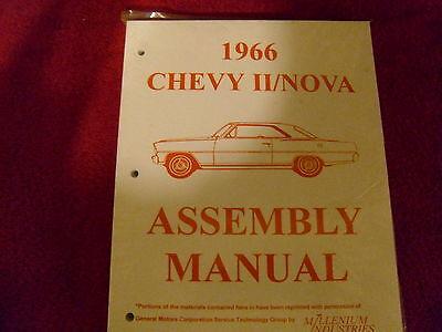 1966 66 CHEVROLET CHEVY II NOVA  ASSEMBLY MANUAL