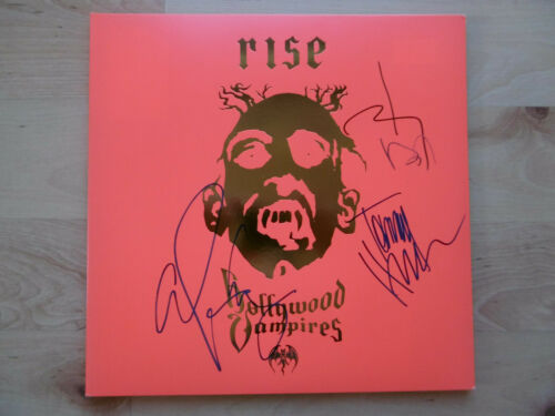 "Hollywood Vampires ""Johnny Depp"" Autogramme signed LP-Cover ""Rise"" Vinyl"