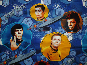 Fq star trek sci fi characters spok fabric retro space ebay for Retro space fabric uk