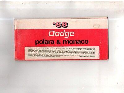 1968 Dodge Polara and Monaco Owners manual