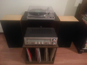 Technics record player/amplifier/speakers combo Osborne Park Stirling Area Preview