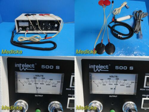 Chattanooga Intelect 500S Electrotherapy Device W/ Probe, Leads & Pads ~ 22694