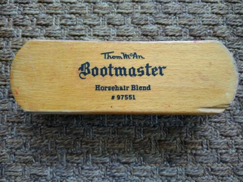 VINTAGE Thom McAn Horsehair Blend Bootmaster Shoe Shine Brush #97551