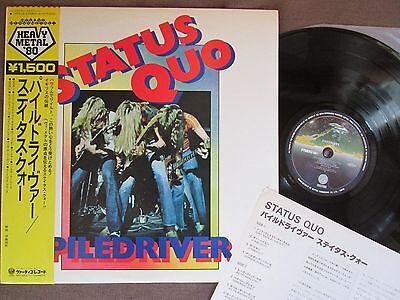 Status Quo Piledriver Japan Lp 15Pr 28 W Obi Insert 1980 Reissue Paper Plane