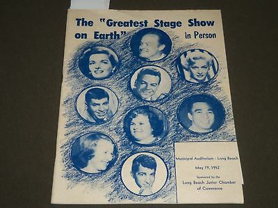 1952 MAY 21 THE GREATEST STATE SHOW ON EARTH PROGRAM - BOB HOPE - LEWIS - J 2360
