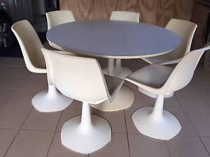 Sebel retro dining table and six chairs Northbridge Willoughby Area Preview