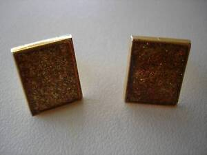GLITTER GOLD CUFFLINKS Murdoch Melville Area Preview