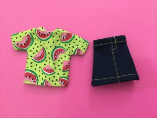 Handmade Doll Clothes fits STACIE Summer Watermelon Top Jean Skirt New NO DOLL