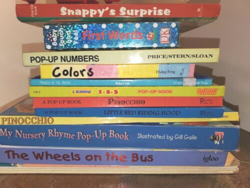Lot of 12 Children's Books Pre-Owned,  9 are Pop Up, All are Secular, Pre-School