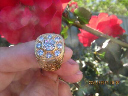 JEWELLERY DIAMOND RING GENTS ABSOLUTE BARGAIN WORTH $25K NOW $7K