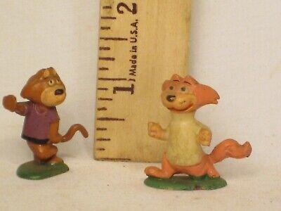 "vintage miniature plastic TOP CAT figures 2 toy figure cartoon 1.25"" characters"