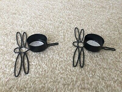 2 NEW~DRAGONFLY TEALIGHT Candle HOLDERS Shabby -