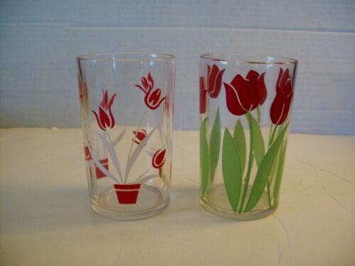 "2 Kraft Swanky Swig Glasses Tulip #1, Posy Tulip red Swankyswig 3 1/2"""