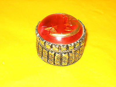 VINTAGE SILVER PLATED BOX Moon&Star image on the lid       (0.1/175C)