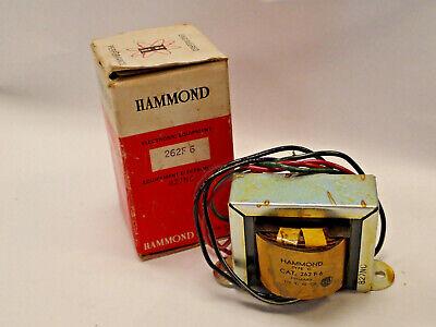 Hammond 262f6 Plate Filament Transformer Pri 115vac Sec 120vac 26va 140ma New