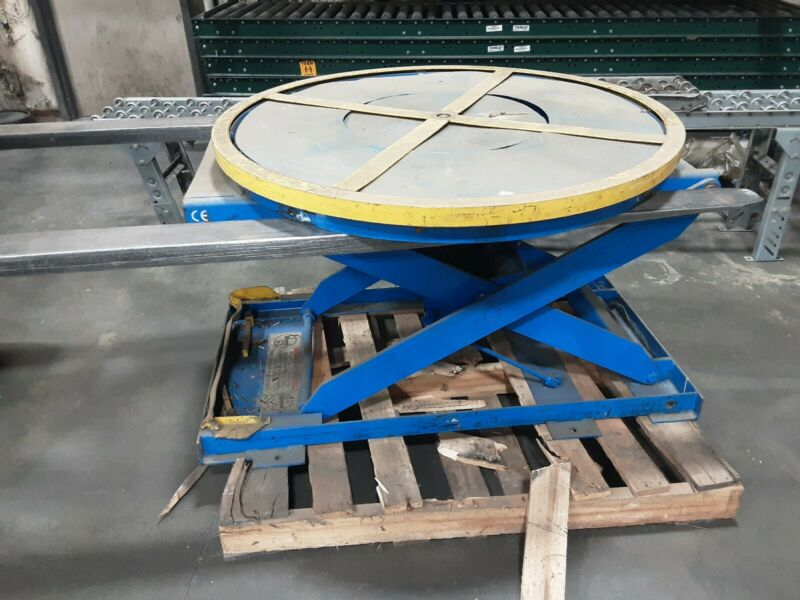 Pneumatic Lifting Table Pallet Carousel Positioner #594taw